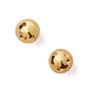 KATE SPADE • Gleaming Gold Disco Ball Earrings